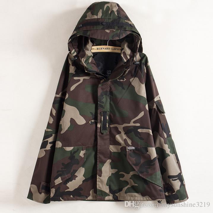 fb7c13b25e478 Tactical Camouflage Jacket Men Women Plus Size Camo Hooded Windbreaker Jackets  Military Canvas Jacket Parka Fashion Streetwear Men Jacket Hooded Jacket  From ...