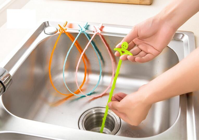 Sink cleaning hook bathroom floor drain sewer dredge device small tools Creative Home