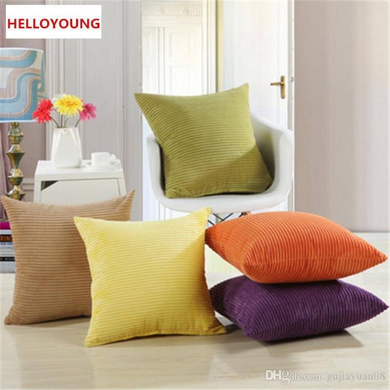 Bz105 Luxury Cushion Cover Pillow Case Home Textiles Supplies Lumbar Pillow  Corduroy Solid Color Pillows Chair Seat Outdoor High Back Chair Cushions ...