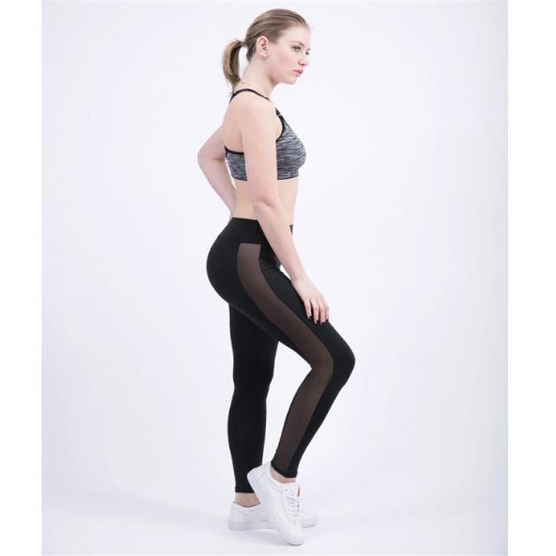 Sexy 10 Kolor Kobiety Legginsy Sportowe Push Up Yoga Spodnie Damskie Damy Rajstopy Mesh Sport Legginsy Kobieta OUC2045