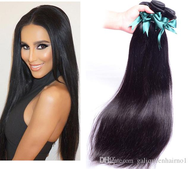 7a Brazilian Straight Hair Weft Human Hair Weave Extensions