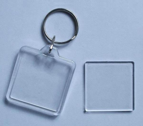 photo keychain blank acrylic square personalized keychain gift