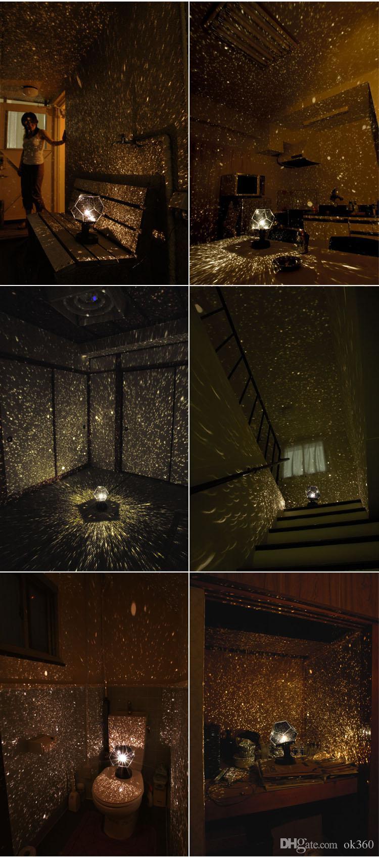 Juguete de bricolaje Ciencia humana Temporada Estrella Proyector de proyección del cielo del hogar Planetario Luz de la noche Estrella Proyector del partido Luz de la noche de Navidad