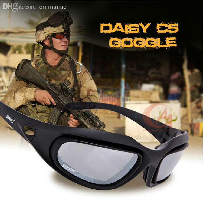 5cae3c61f1 2019 Wholesale Daisy C5 Polarized Sunglasses Military Army Goggles Desert  Outdoor Tactical Eyewear Riding Eye Protection Glasses 4 Lens 12 0006 From  Emmanue ...