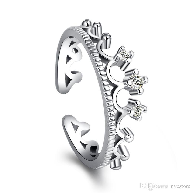 925 Sterling Silver Jewerly Rings Dolphins Dragonfly Wings Of The Angel Love Fox Butterfly Opening Adjustable Ring For Women