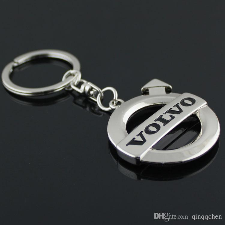 automobile accessaries key rings chains keyring keychain for volvo car logo badge brands black emblem marks