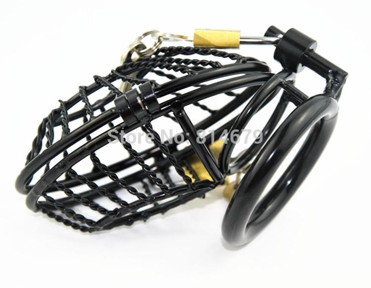 Envío gratis 2016 venta caliente nuevo diseño M061 anillo del martillo del acero inoxidable anillo del pene jaula del pene jaula del pene juguetes sexuales para hombres