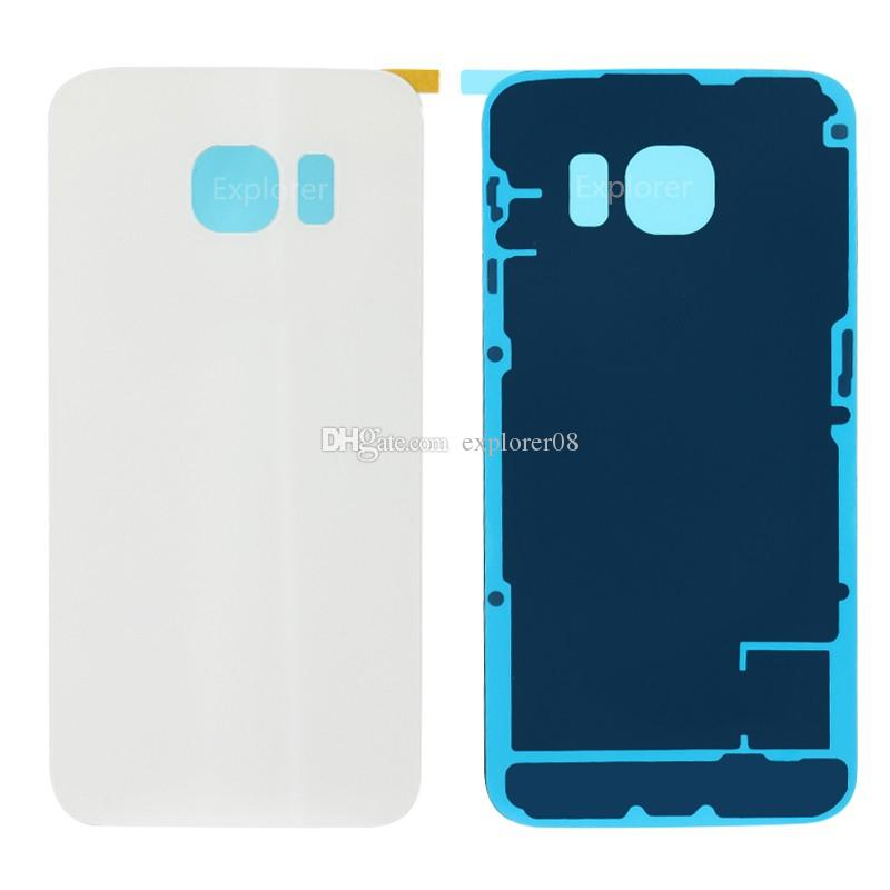 Battery Door Back Cover Glass Housing + Adhesive Sticker For Samsung Galaxy S6 G920 G920F G920T vs S6 edge G925 G925F G925T