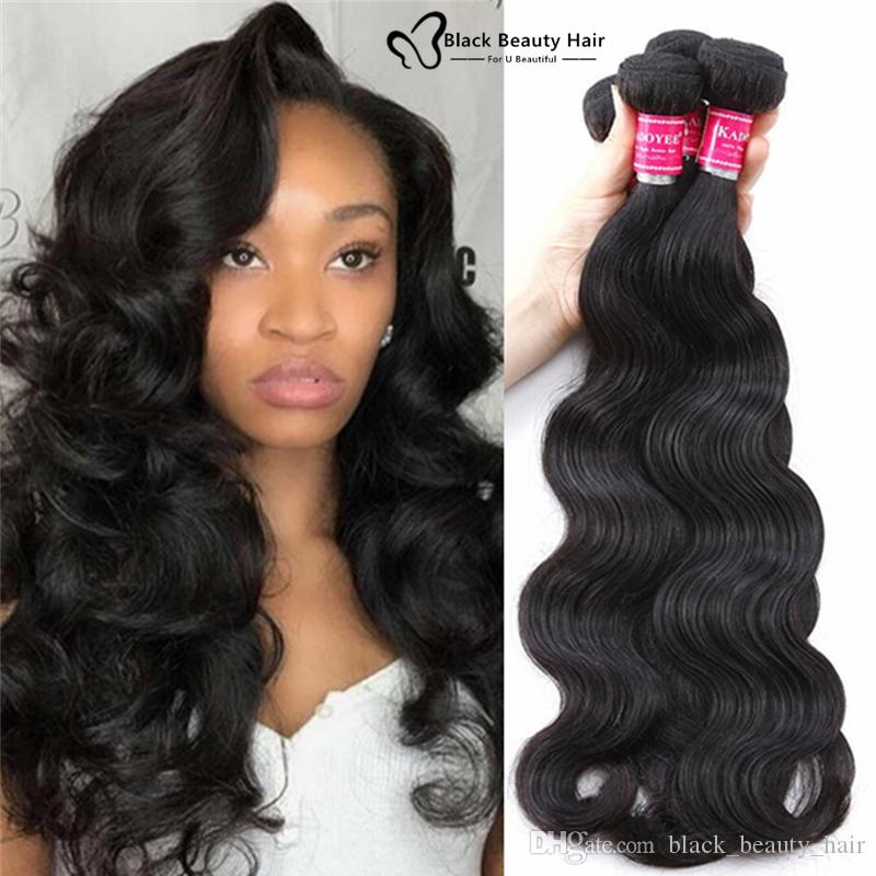 Kadoyee 8a Unprocessed Brazilian Body Hair Weave Human Remy Virgin Hair  Peruvian Indian Malaysian Hair Extensions Soft Texture Wefts Of Human Hair  Wefted ... 0a4c016d88f4