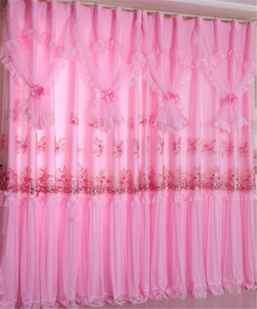Hot pink curtains - See Larger Image