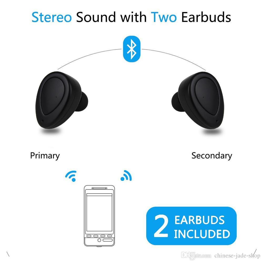 TWS K2 Verdadeiro Sem Fio CSR 4.1 Fones De Ouvido Bluetooth Stereo Headset Baixo Microfone Duplo Fones De Ouvido Fones De Ouvido Com Caixa De Carregamento Doca 10 PÇS / LOTE