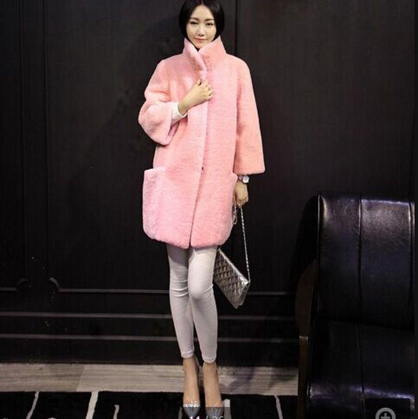 2017 Wholesale Australia Merino Sheep Fur Long Coat Women ...