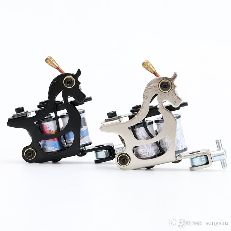 New Iron Handmade Tattoo Machine Liner Dual 10 Wrap Coils for Tattoo Gun Supplies TM3055-3056