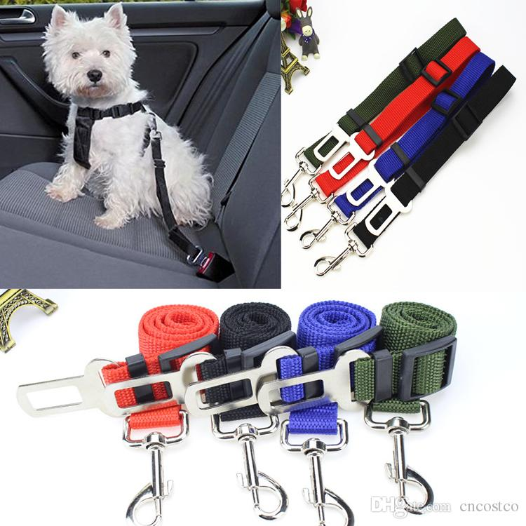 2018 Free Dhl Pet Dog Car Safety Seat Belt Tether Leads With Soft ...