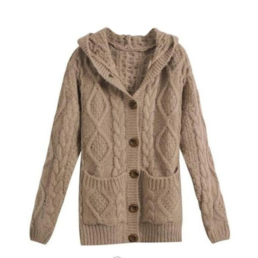 fe9982fa09f348 2019 Wholesale New Fashion Cardigans Sweater Women Cotton Knitted Cardigan  Sweater Coat Long Women Sweater Jacket Femme Mander Nov24 From Stepheen