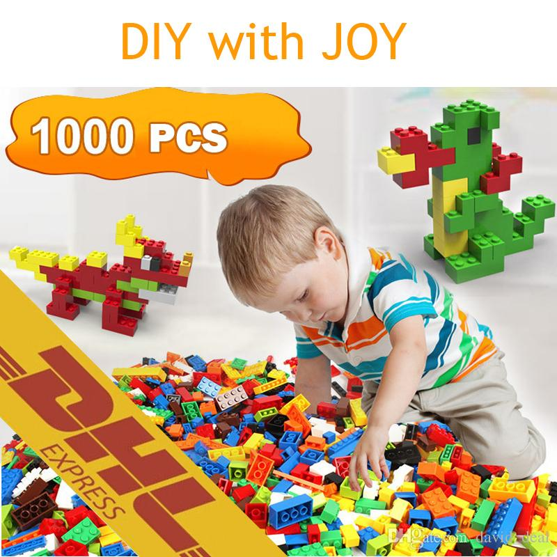 Models 1000pcs DIY Building Blocks Creative Education Bricks Toys for Children DIY Assemble Block Bricks Kids Gifts