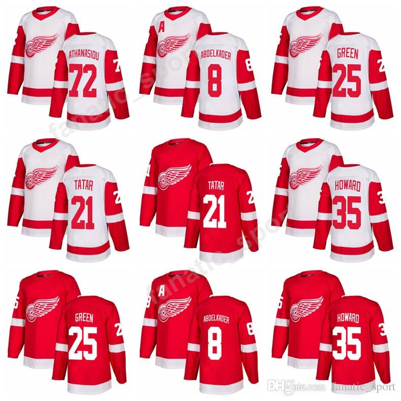 c7c25e01c ... cheap 2017 detroit red wings 2018 ice hockey 25 mike green jersey 35  jimmy howard 21