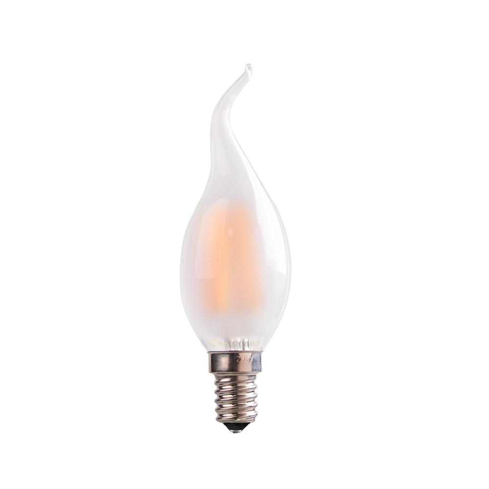 best c35t 4w 6wretro led filament bulbfrosted candle flame tipe12 e14 basewarm decorative led recessed light bulbs g9