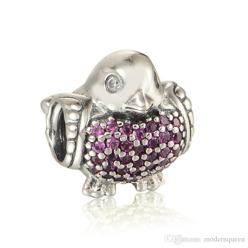 ac609c582 Bird Charms Topo 100% S925 Sterling Silver Fits for European Pandora ...