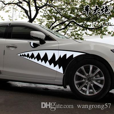 Shark Mouth Car Sticker Car Pull Flower Decals New Fokker - Stickers for the car