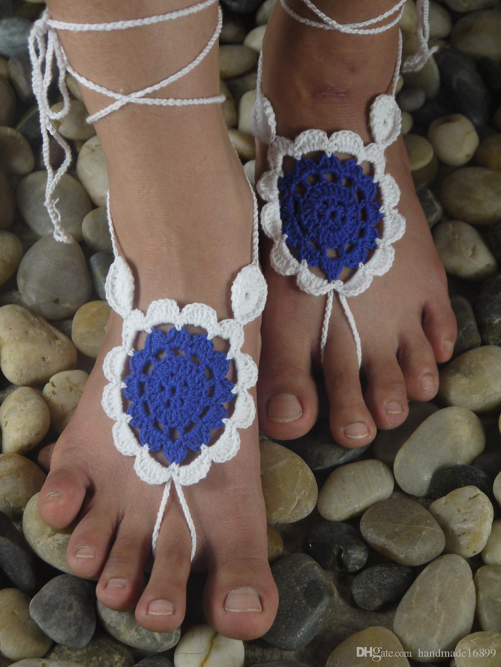 Crochet Barefoot Sandal, Feet thongs, Wedding Accessory, Nude Shoes Victorian Sexy Lace