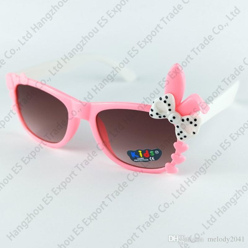 823b93ae537 Kids Sunglasses Rabbit Bow Frame Baby Sun Glasses Sexy Rabbit Design Eyewear  UV400 Wholesale Prescription Glasses Sunglass From Melody2041