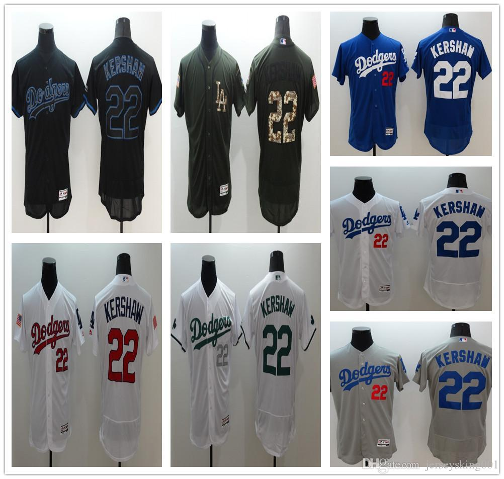 78601a974 ... buy mens 2016 flexbase los angeles dodgers jersey 22 clayton kershaw  bluewhitegreygreenblack flexbase stitched baseball jerseys