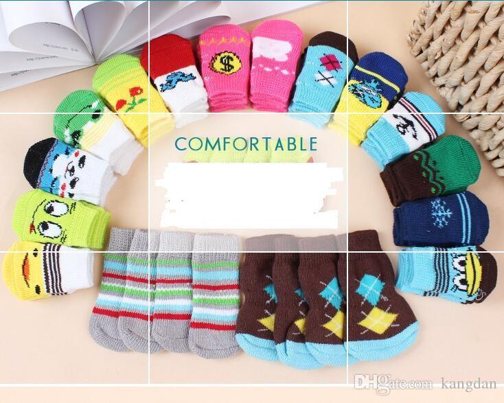 Chaussettes chaudes pour animaux de compagnie, chat, chien, pour l'hiver