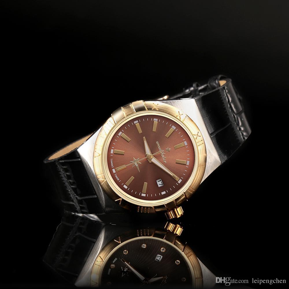 Delgado Impermeable Constelación Marca Genuino Lujo Ultra De Mujer Estrella Reloj Relojes Amor Cuero Pareja Completo CxdBerWo