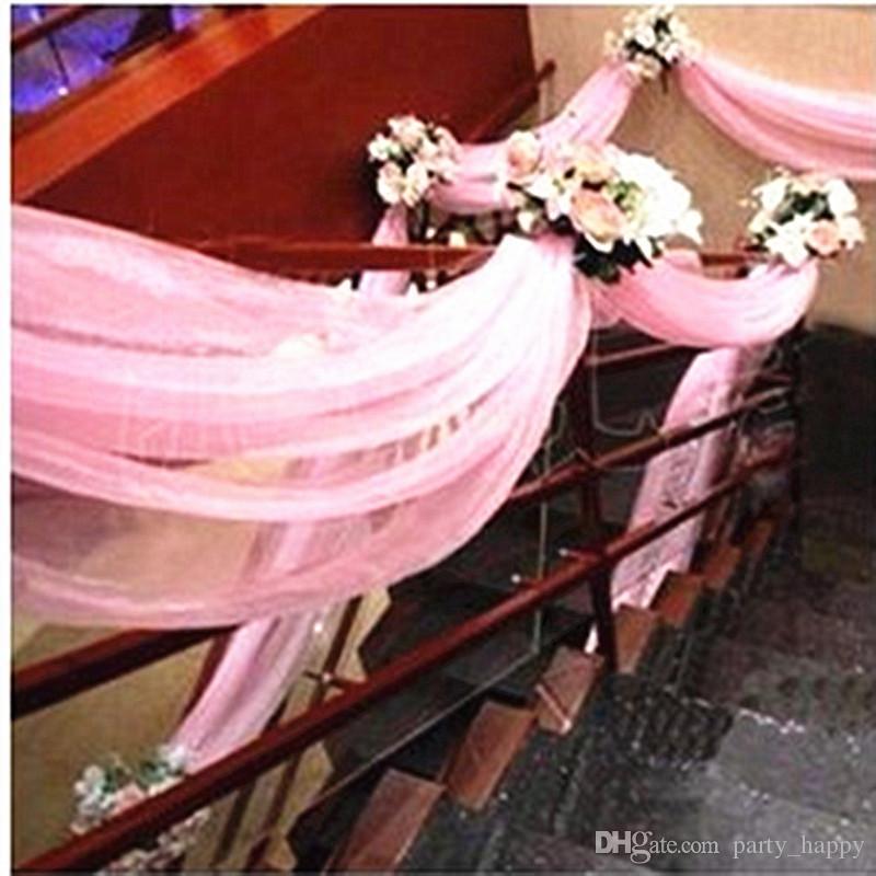 Свадебный снег Пряжа Замужем Свадебные украшения марли занавес Производитель Свадеб лук украшения Свадебные украшения сада