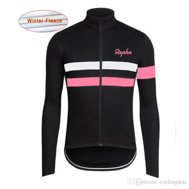 2017 RAPHA Pro Team Cycling Jerseys Winter Thermal Fleece Long Sleeve Ropa  Ciclismo Maillot Ciclismo Mountain Bike Clothes L1101 Online T Shirts  Padded ... 063f30887