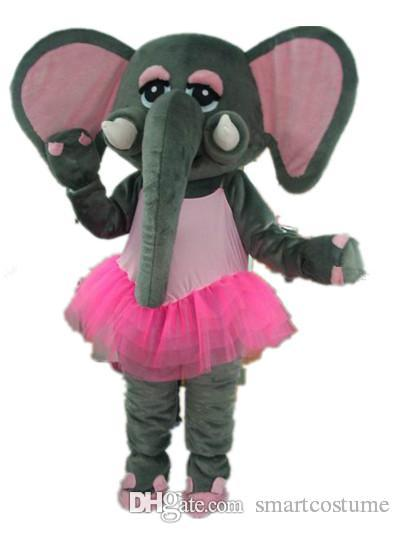 sx0723 100 positive feedback a grey elephant mascot costume with