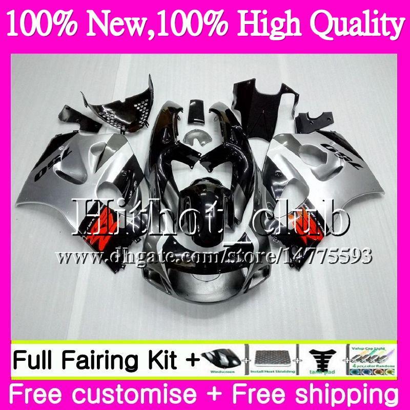 Кузов для SUZUKI SRAD GSXR 600 750 черный серебристый GSXR750 96 97 98 99 00 20HT19 GSX-R600 GSXR600 1996 1997 1998 1999 2000 мотоцикл обтекатель
