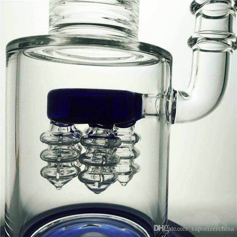 Прямая трубка бонг dab rig recycler бонги НЛО душ перколятор водопровод барботер стеклянная труба вихревые буровые установки с кварцевым сосиска