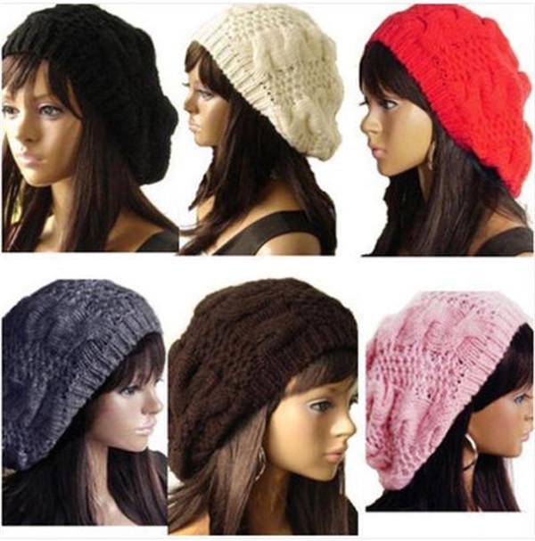 04daf12789c7a Women Lady Winter Warm Knitted Crochet Slouch Baggy Beret Beanie Hat Cap  CUTE Slouchy Beanie Skull Cap From Math