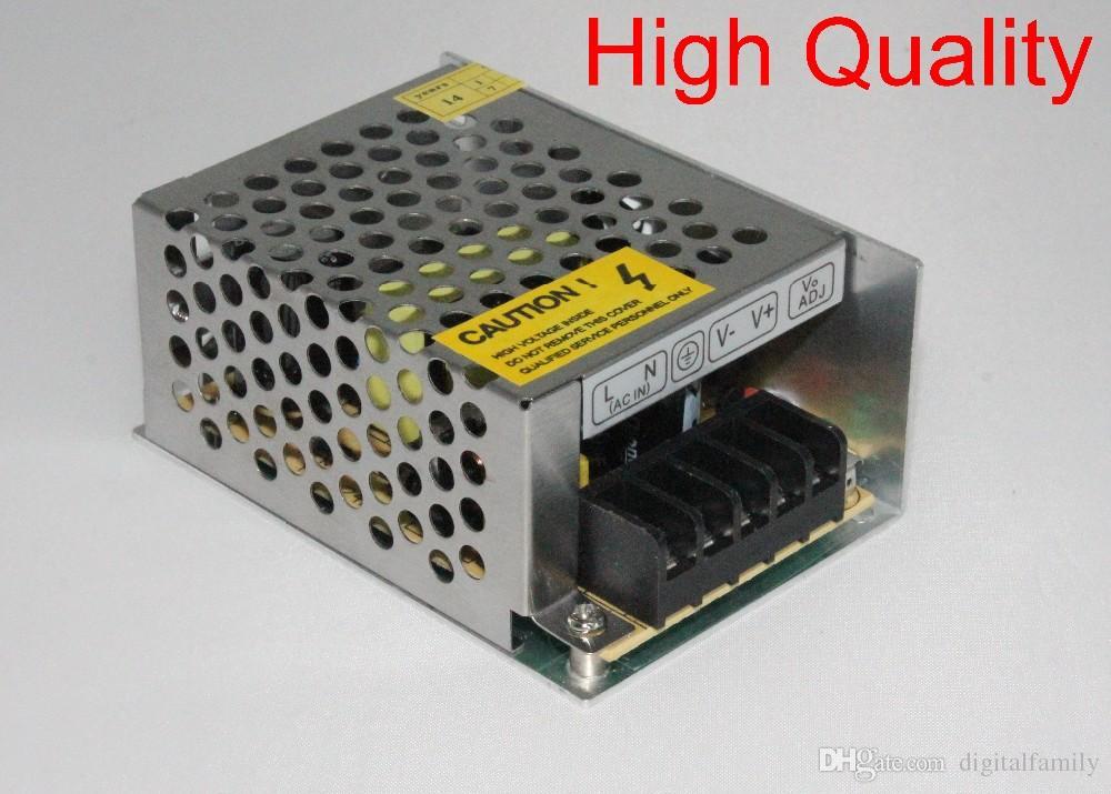 1 pz di alta qualità 12V 2A DC 24W Alimentatore di commutazione regolato universale 12V LED Driver 3528 LED Strip regolato universale