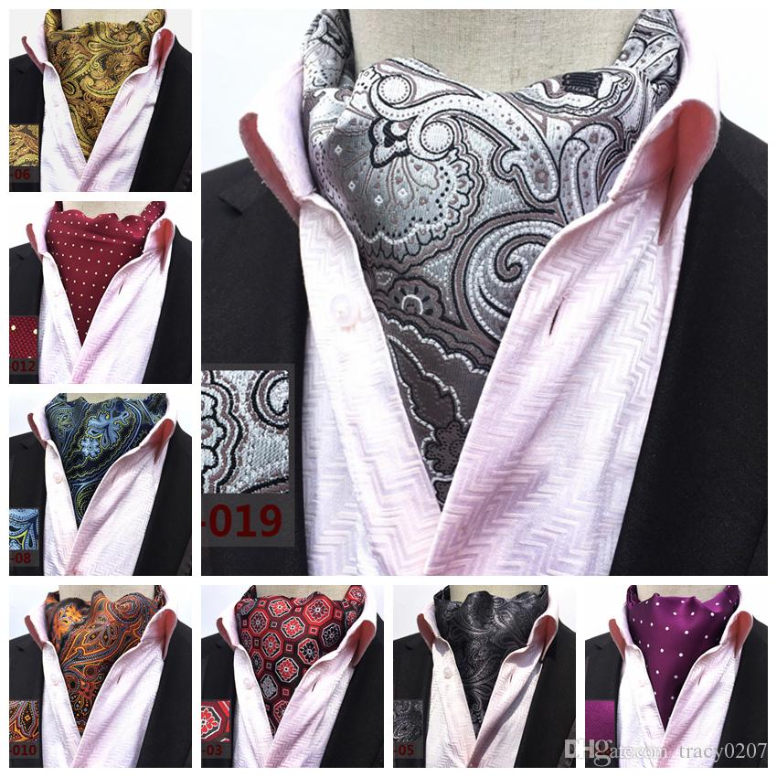 Apparel Accessories Collection Here 27 Style 2019 Fashion Luxury Polyester Silk Printed Men Scarf Polka Dot Scarves Suit England Jacquard Weave Ties Paisley Wedding