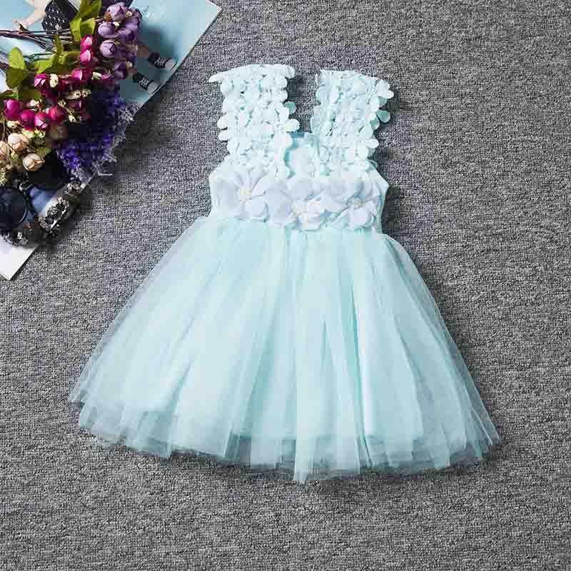 Perakende Moda kızlar Dantel Tığ Yelek Elbise sundress Prenses Kızlar kolsuz tığ yelek Dantel elbise bebek parti elbise çocuk giysileri