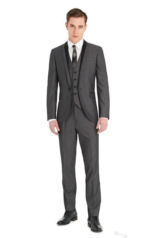 Custom made casamento ternos Notch lapela três peças sexy noivo smoking homens formal clássico noite casamento desgaste casaco + calça + colete
