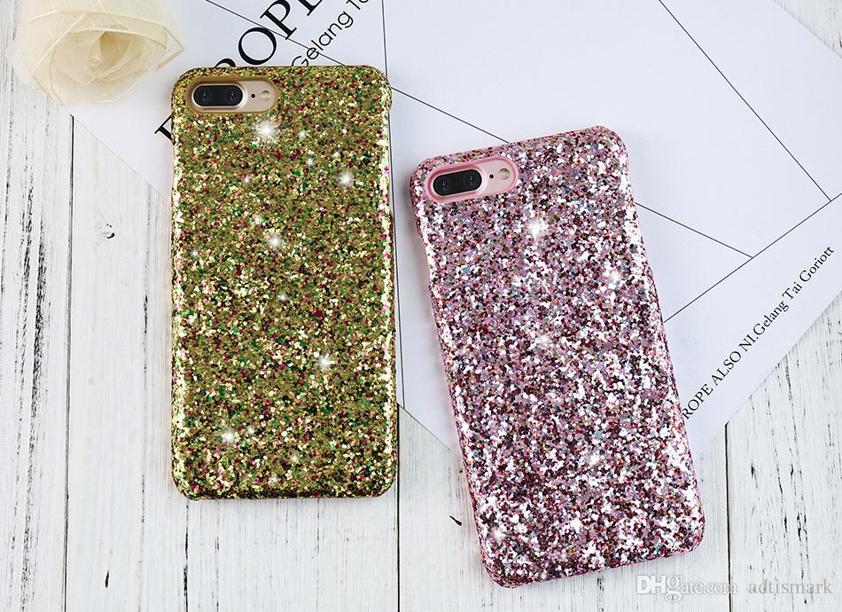 reputable site 2f573 9c8e9 Luxury Bling Phone Case For Apple iPhone 6 6S 7 Plus Colorful Sequin  Glitter Girly Back Cover For Samsung Galaxy S6 Edge