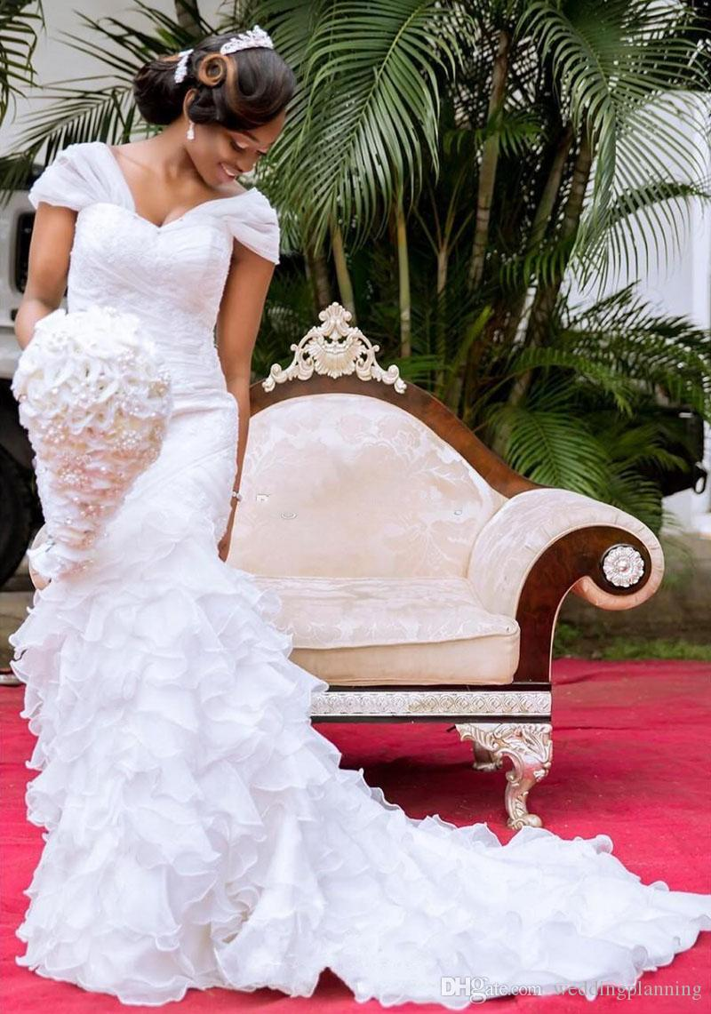 White Off Shoulder Mermaid Bridal Dresses For Wedding With Applique Beaded Wedding Dresses Formal Women Gowns