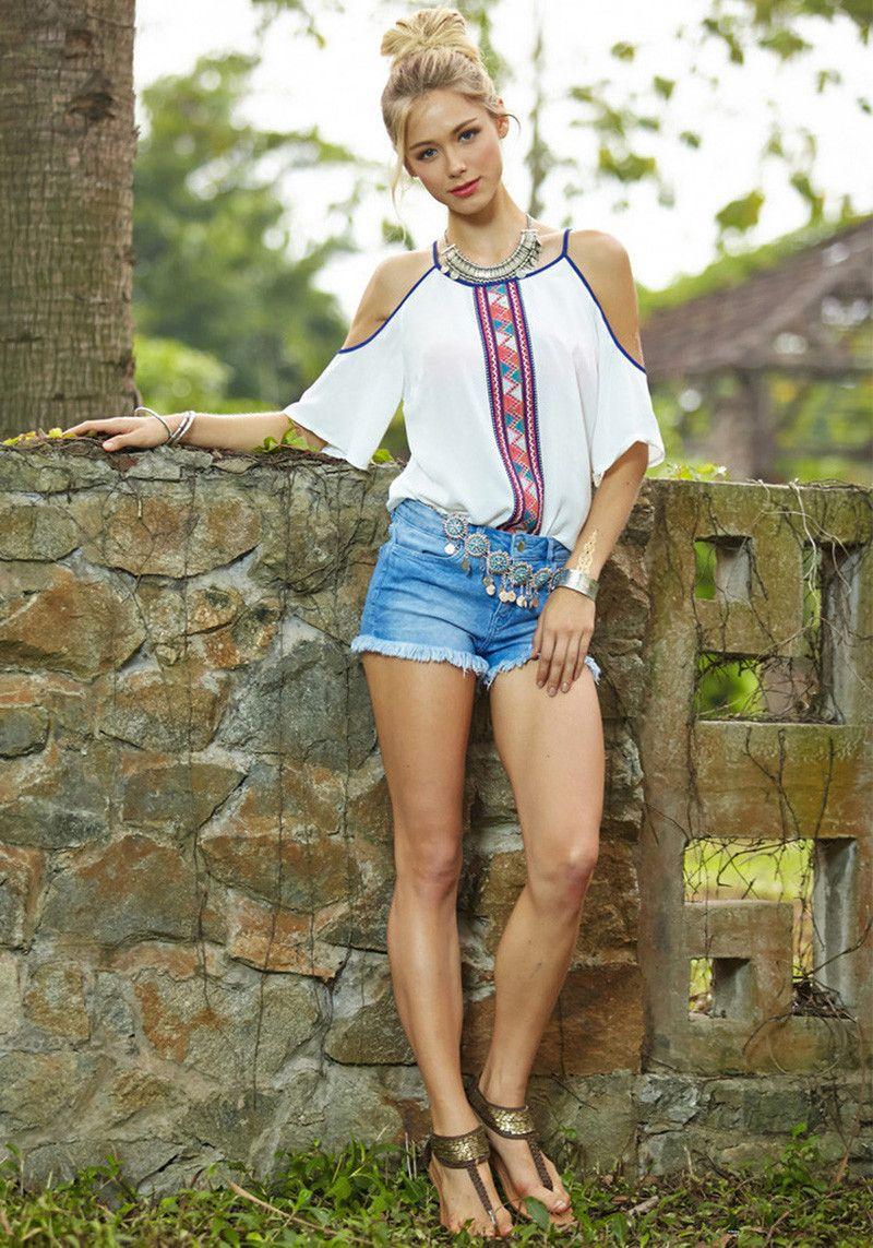 Женская одежда сексуальные шифоновые рубашки Топы Тис случайные дешевые одежды Printed строп без бретелей прохладное свободно футболки Китай женщин летние Танки Z7
