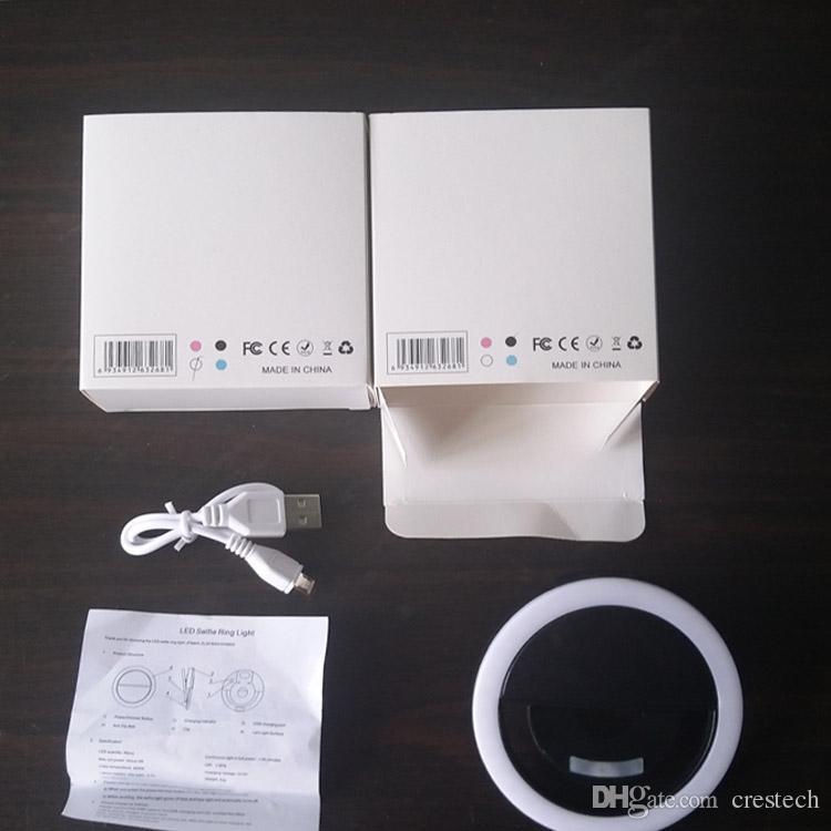 LED 반지 Selfie 빛 USB 충전식 반지 셀카 충전 라이트 보조 조명 카메라 사진 AAA 배터리 스마트 휴대 전화