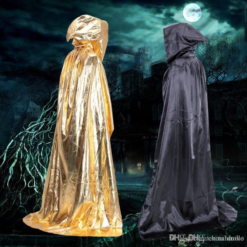 sorcerer cloak halloween costume prop vampire death clothing devil cape castle horror cloak free dhl fedex disco costume pet halloween costumes from skyhao
