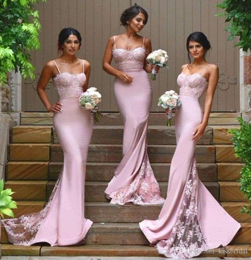 Kissbridal 2016 Mermaid Bridesmaid Dresses With Spaghetti Straps ...