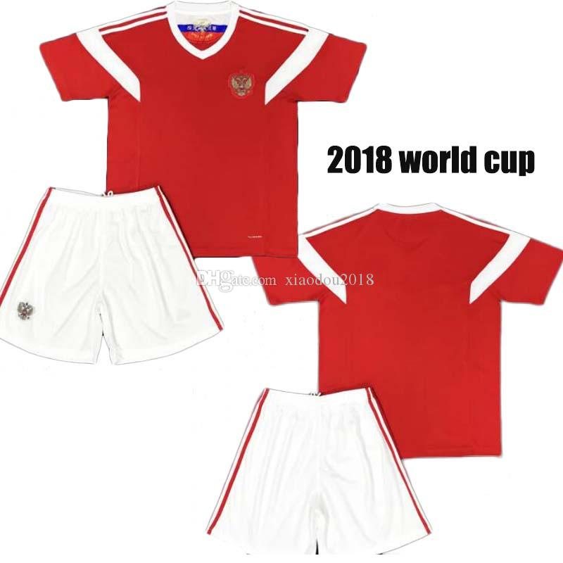 competitive price 70fe7 ff2ae 2018 world cup Russia Soccer Jerseys adult kits National team Home Football  Shirt Thai Quality Kokorin Dzyuba Smolov Soccer