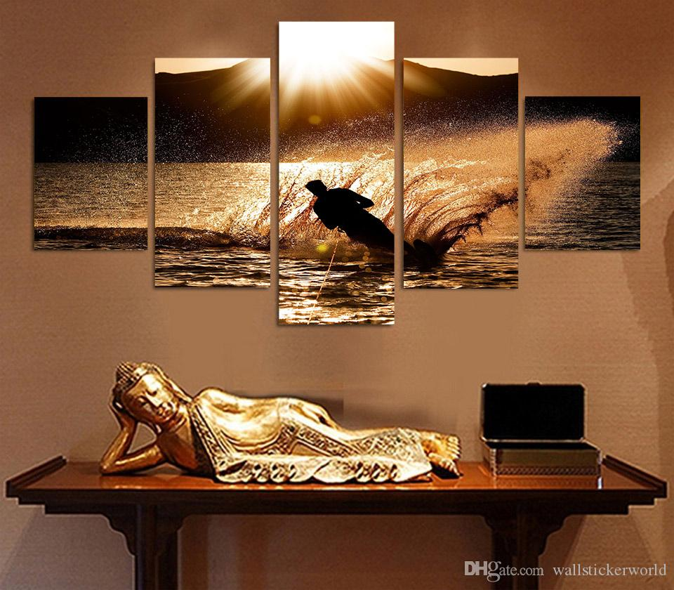 Framed Printed sport muzhchina paren siluet Painting Canvas Print room decor print poster picture canvas /ny-4330