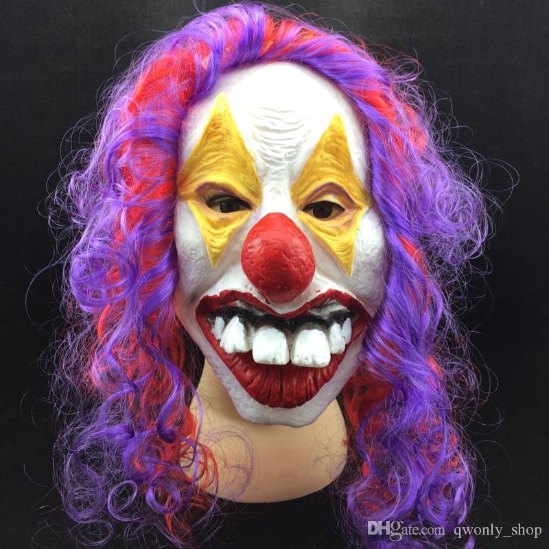 Decoração do partido Máscara Do Partido Máscara de Halloween Assustador Do Partido Látex Engraçado Palhaço Wry Rosto Máscara Assustadora Frete Grátis