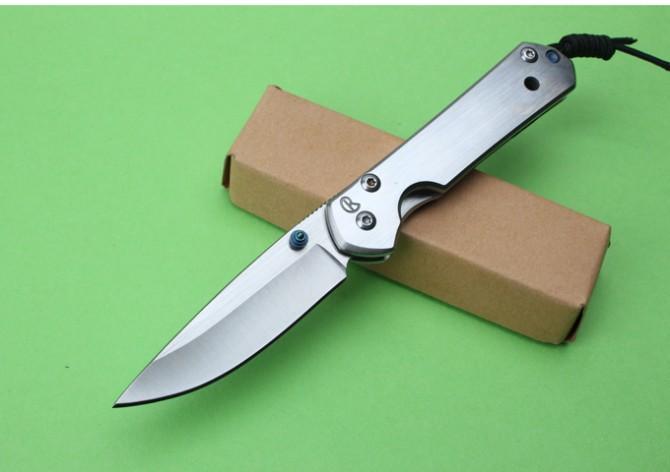 Top Funtion Chris Reeve Sebenza 21 Coltello 440C acciaio inox Drop Point Plain coltelli da escursione tattici con scatola al minuto F96L