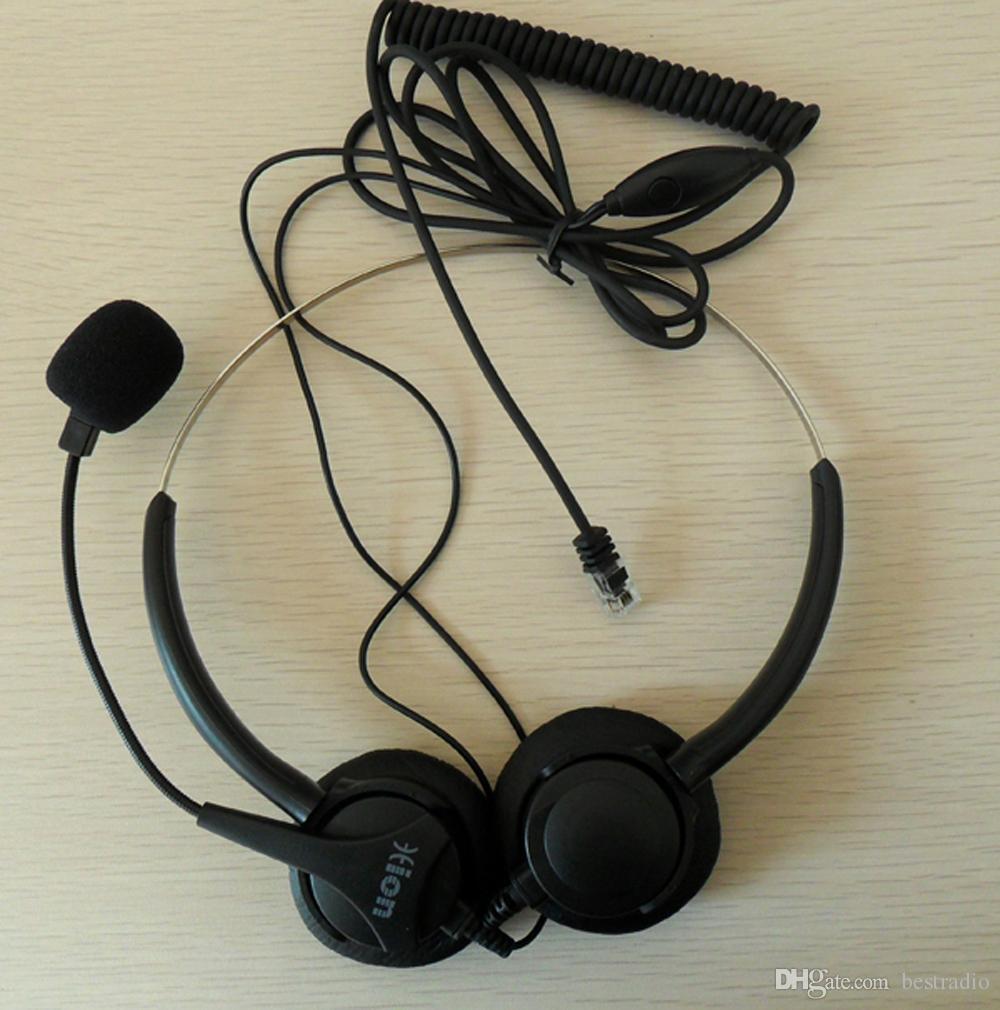 Cuffia call center binaurale diretta con spina RJ09 telefono di casa ufficio e SOHO